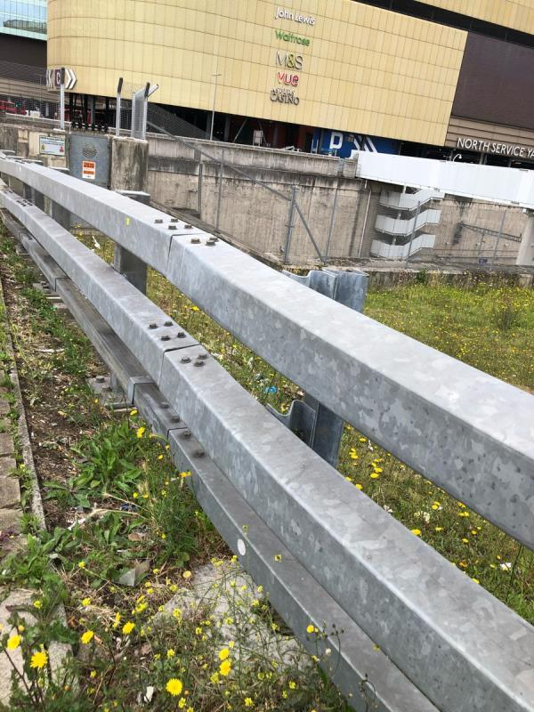 Litter on grass area in front of and behind barrier  image 1-473 Montfichet Rd, London E15 1AZ, UK