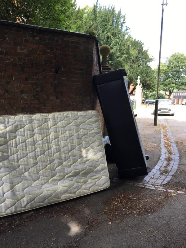 Dumped bed and mattress -34 Church Road, Leicester, LE4 5PE