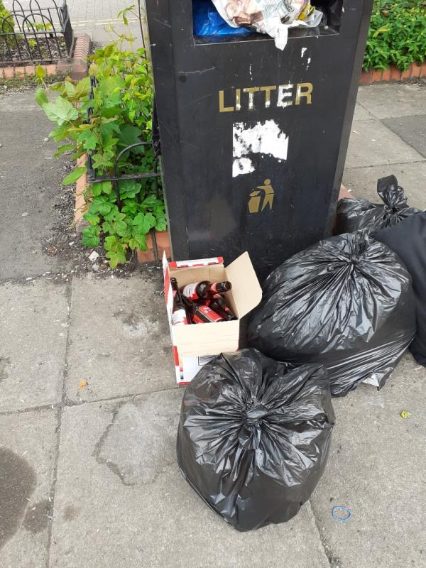 This flytipping was seen in owen rd pennfields opposite the laundry, rubbish is regularly left their. -71 Owen Road, Wolverhampton, WV3 0AL