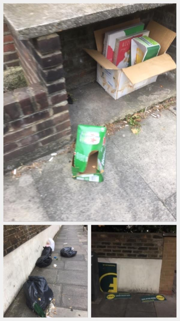"""Another day, another loads of stuff dumped on KEOGH ROAD to add to the stuff that was supposedly """"COMPLETED"""" yesterday 🤣-16 Keogh Road, London, E15 4NR"""