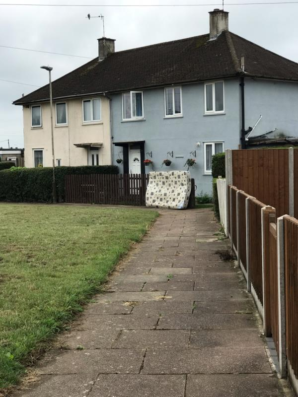 Mattress dumped outside in the street -72 Biddle Road, Leicester, LE3 9HH