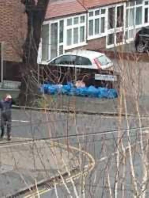Please clear sweepers bags-40 Carstairs Road, London, SE6 2SN