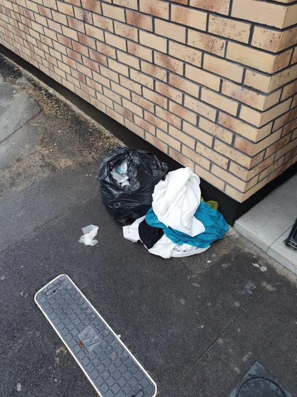 somebody has dumped some garbage on the pavement-52 Leytonstone Road, London, E15 1HD