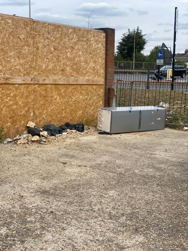 Fridge freezer dumped -2 Forty Acre Lane, Canning Town, E16 1EP
