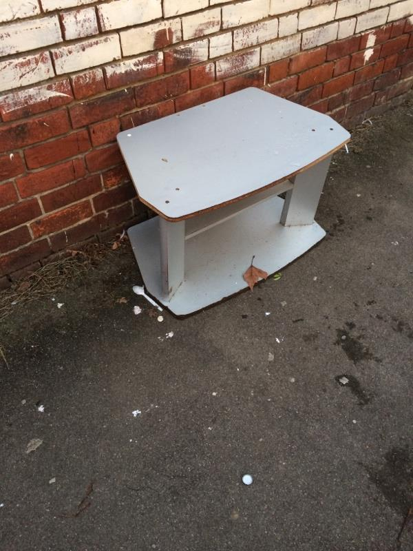 Furniture dumped on pavement -100 Belmont Road, Reading, RG30 2UH