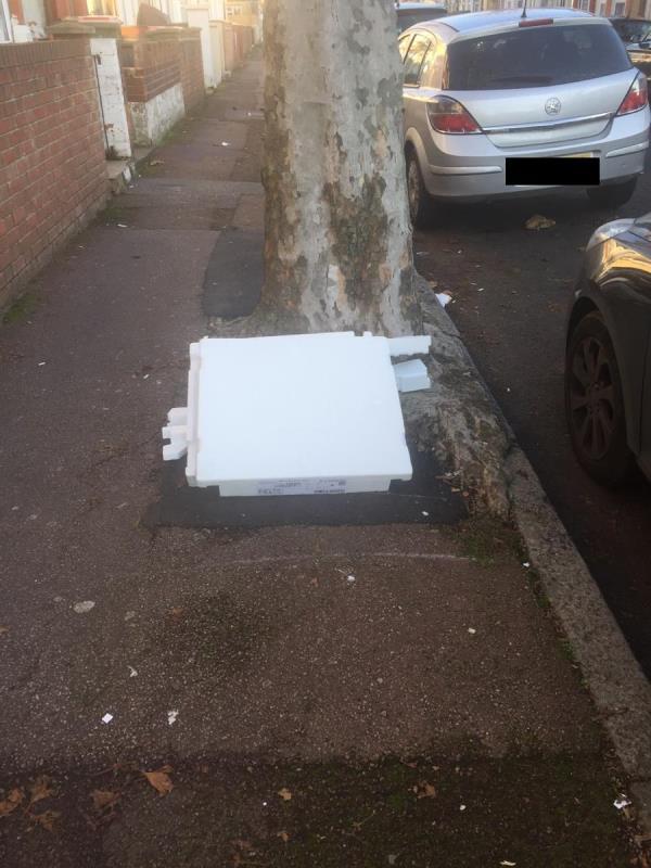 Rubbish dump -109a Shelley Avenue, London, E12 6PX
