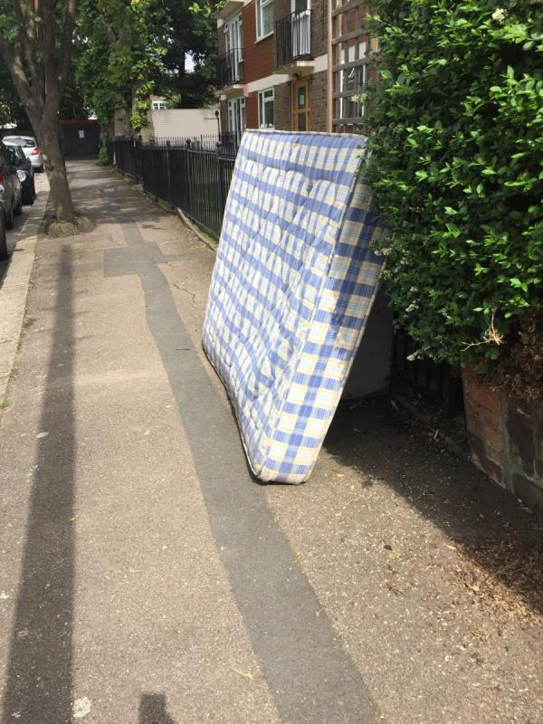 Someone has dumped a double mattress just outside our property and number 36. -34 Barnard Hill, London, N10 2HB