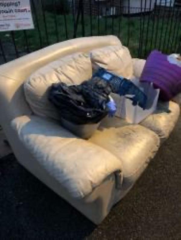 Junction of Moremead Road. Please clear flytip-180 Firhill Road, Bellingham, SE6 3LL