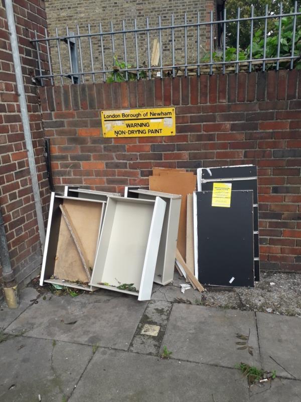broken furniture -134 Plaistow Rd, London E15 3HJ, UK