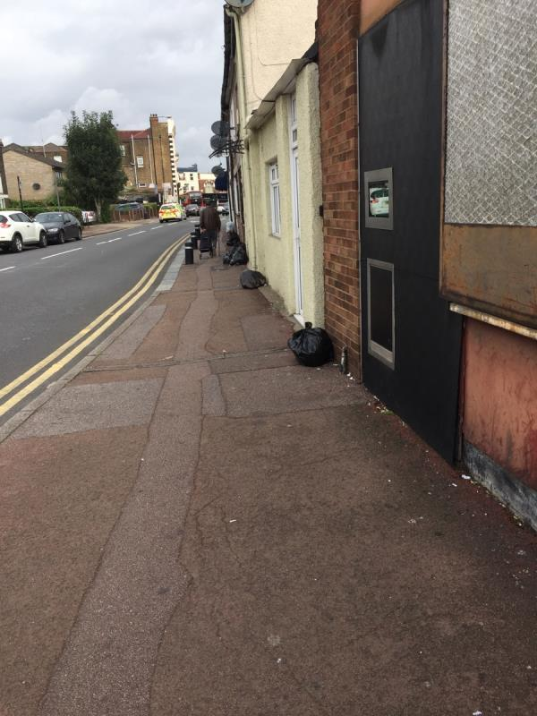 Domestic rubbish not collected on Wednesday -5 New Barn Street, London, E13 8JZ