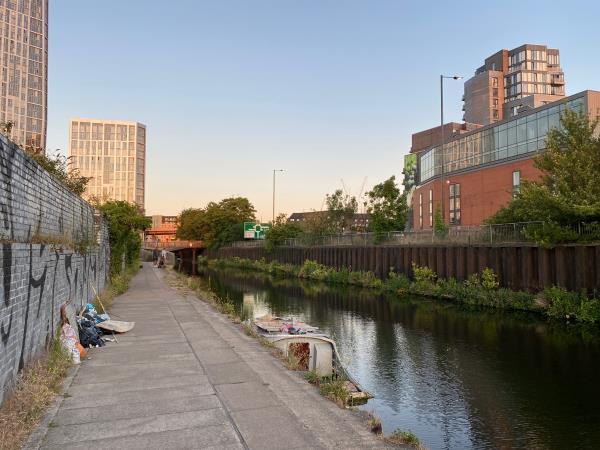 Get onto the towpath at bow roundabout and head north along the canal for 20m and then you'll walk into it. I don't understand how it was claimed on a previous report that it couldn't be found-Bow Interchange, London, E15 2PW