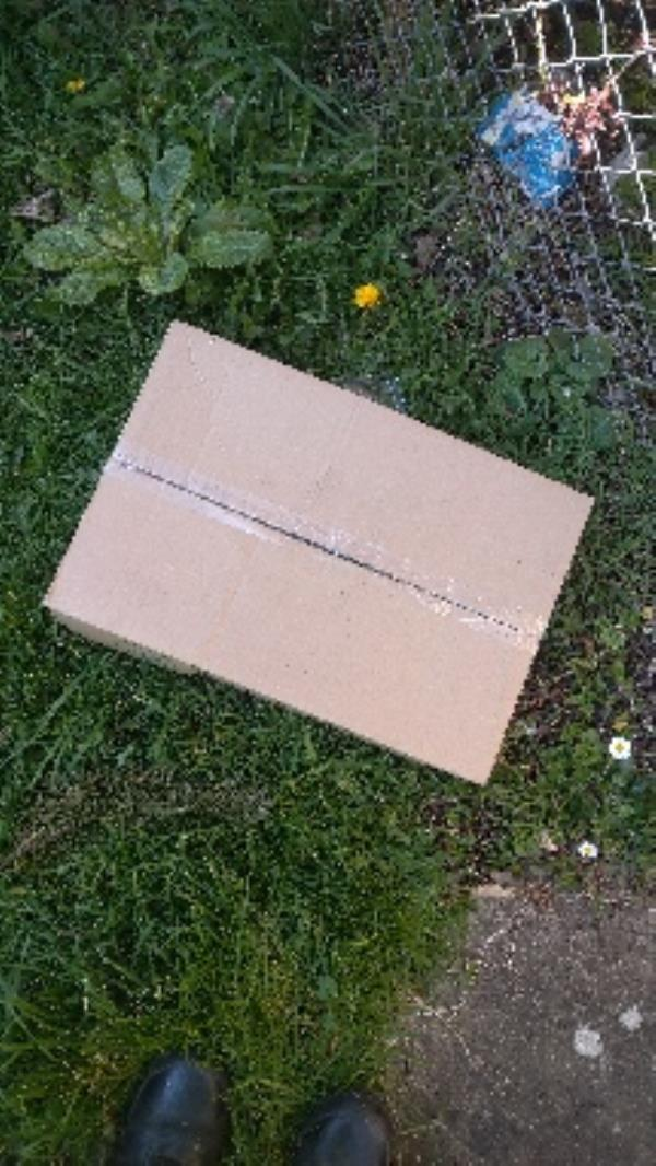 Flytipped box no evidence taken -4 Exeter Court Ambrook Road, Reading, RG2 8SP