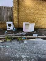 Washing machines, clothes airer, small fridge  and printers  image 2-71 Goodhall Street, Kensal Green, NW10 6TS