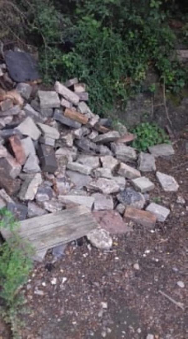 Fly Tipping -30 Rocket Pool Dr, Bilston WV14 8BH, UK
