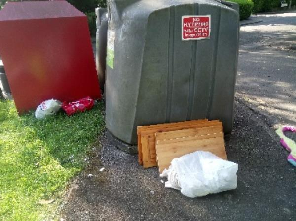 Fly tipping reported and cleared -Armour Hill, Reading RG31 6AD, UK