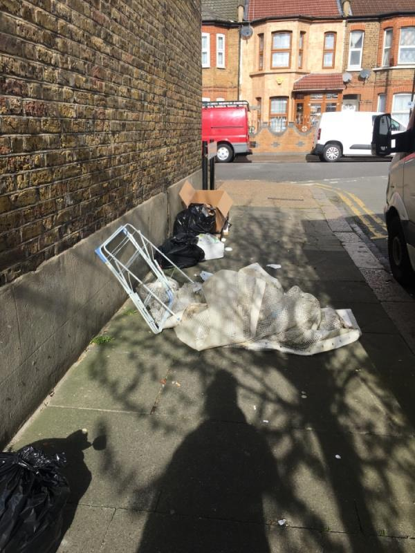 Fly tipping -1a Grosvenor Road, London, E6 1HE