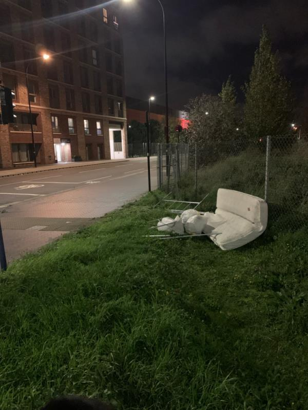 Discarded mattresses and bedding -51 Atlantis Avenue, North Woolwich, E16 2BF