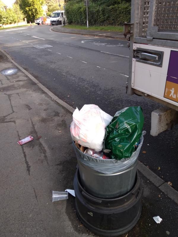 Full of household waste bags in bin no evidence taken away -92A Northcourt Ave, Reading RG2 7HQ, UK