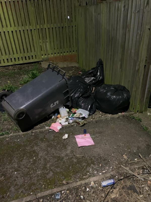 More bags of rubbish just dumped outside this empty house-1 Torridon Close, Leicester, LE4 0RH