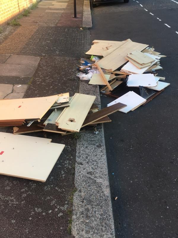 Rubbish dumped on Hale Road E6 -216a Roman Road, London, E6 3SL