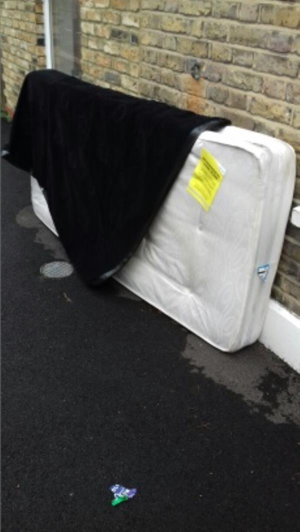 A mattress dumped opposite 79 Brock Road -79 Brock Road, London, E13 8NA
