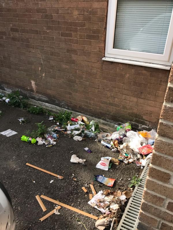 St Clement Court & Fosse Lane are a disgrace, it's disgusting, there's masks and gloves mixed in with the usual rubbish that the occupants of these flats leave all over the place. Should start dishing fines out for this 🤷🏻♀️-St. Clements Court, 94 Fosse Lane, Leicester, LE3 9AJ