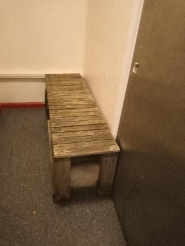 please remove fly tipping 7th floor 28 Granville road. outside lift B-28 Granville Rd, Reading RG30 3QE, UK