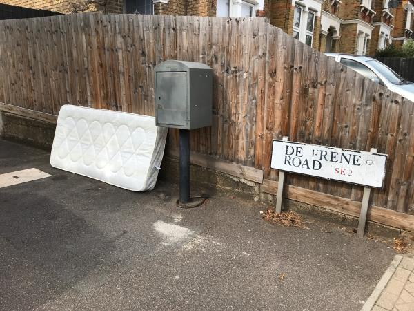 Mattress opposite Brent knoll school -103 De Frene Road, London, SE26 4AF