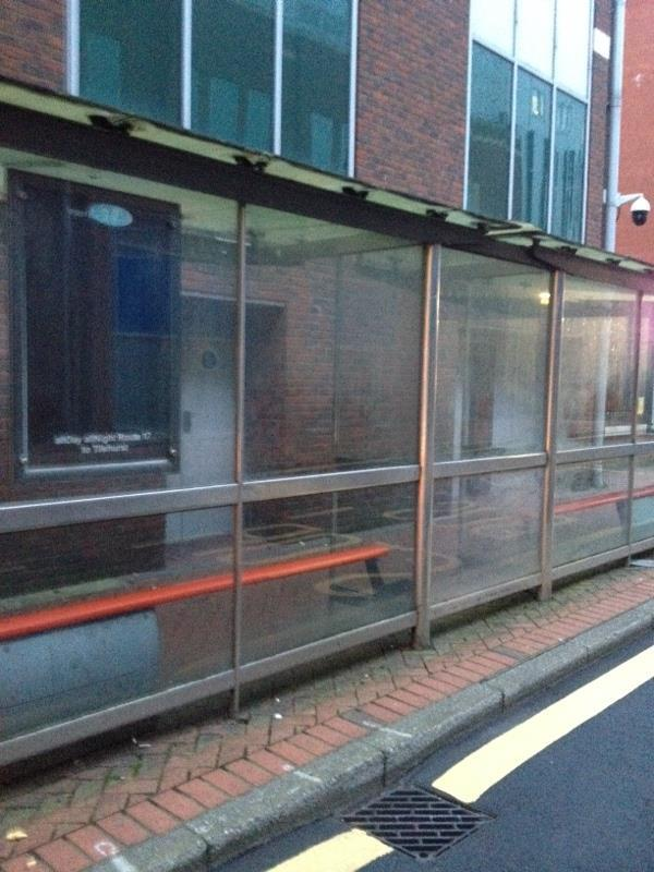 Wash bus stops in town centre-136-137 Friar Street, Reading, RG1 1EX