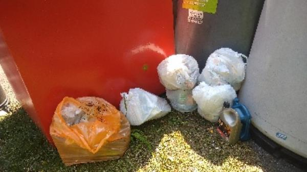 Flytipped household waste no evidence taken -160 Kentwood Hill, Reading, RG31 6DL