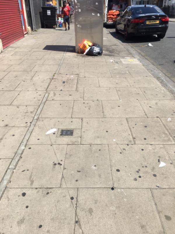 Dumped rubbish -120 Plashet Road, London, E13 0QS