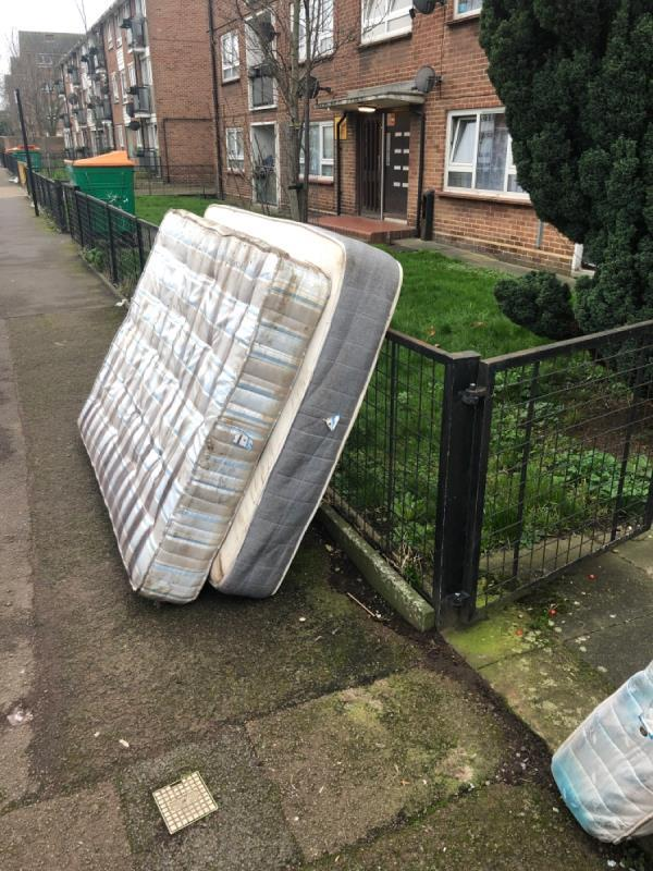 Mattresses three of them -90 Parr Road, London, E6 1QH