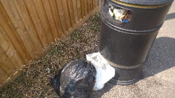 Bin being used as a household waste tipping spot for bags and  bin full of household waste no evidence taken -223 Hartland Road, Reading, RG2 8DN