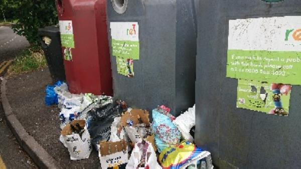 Bottle banks full needs to be emptied cleared excess bottles-1 Pennyroyal Ct, Reading RG1 6HE, UK