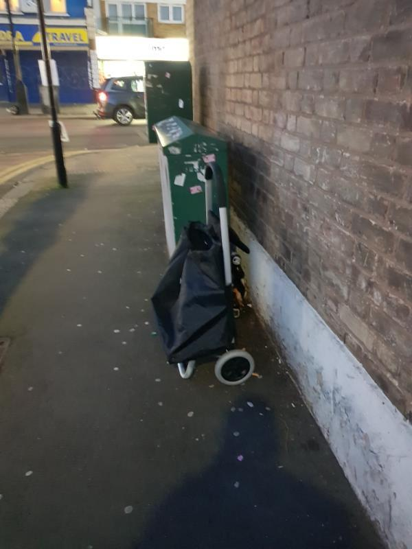 trolly dumped at the end of First Avenue(Romford Road end)-688 Romford Road, London, E12 5AJ