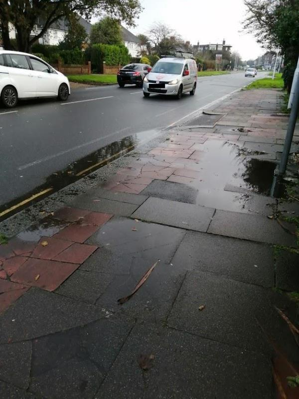 Blocked street drain in gutter outside  Goring road, South side. Has been blocked for months.-53 Goring Road, Worthing, BN12 4AX
