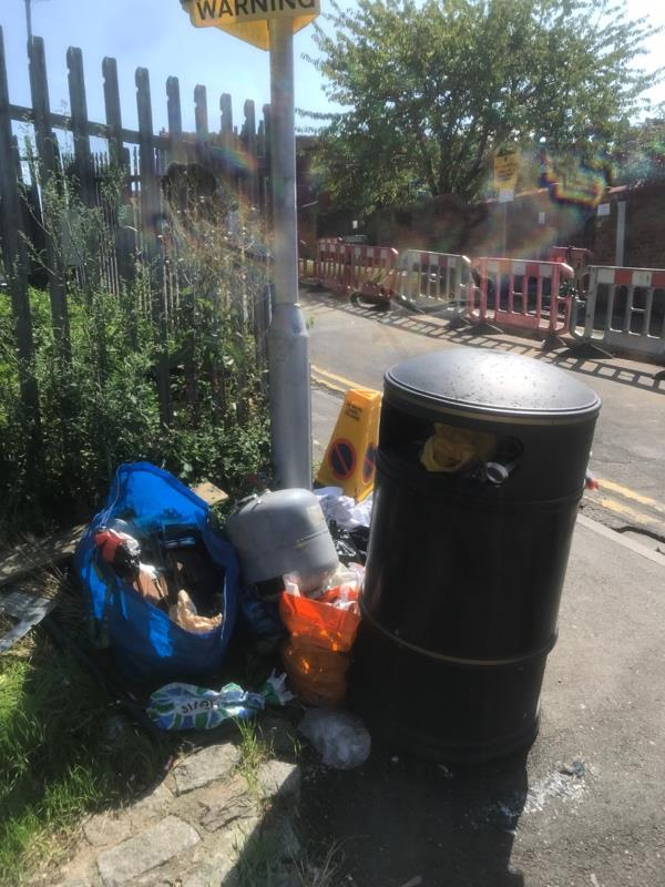 Flytipped litter -168 Cholmeley Road, Reading, RG1 3LX