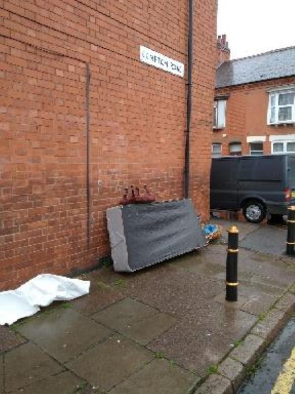 fly tipping, appeared on the 11th of June-39 Raymond Road, Leicester, LE3 2AT