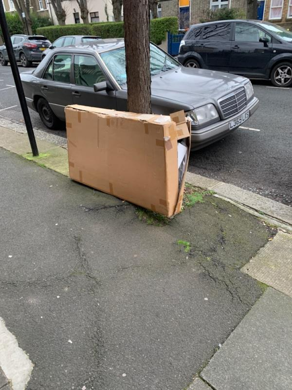 Large Box fly tipped-20a Windsor Road, London, E7 0QX