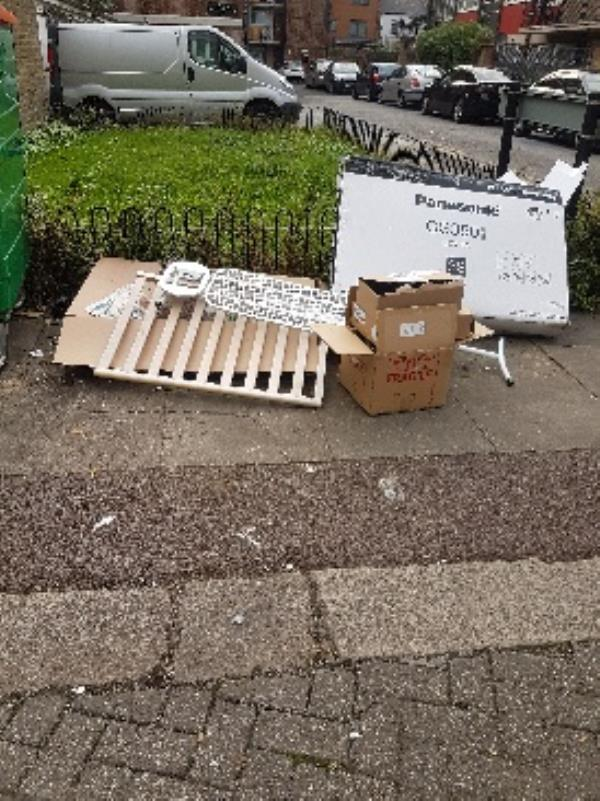 flytipping by residents-2 Maud Road, London, E15 3HJ