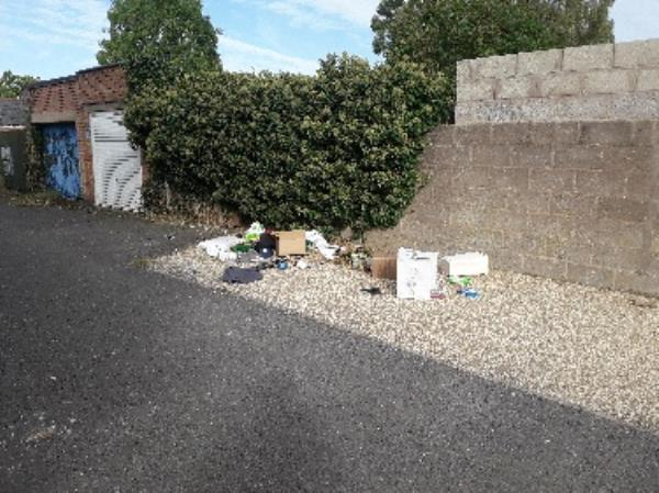 Fly tipping of clothes, letters, boxes and small electrical items-29b Craighill Road, Leicester, LE2 3FD