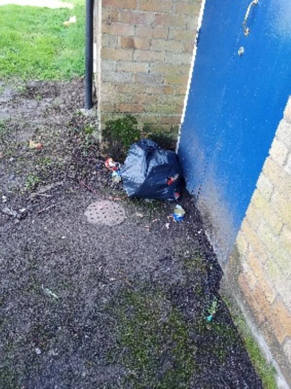 fly tipping by bin store 19-25 Coronation square-33 Coronation Square, Reading, RG30 3QP