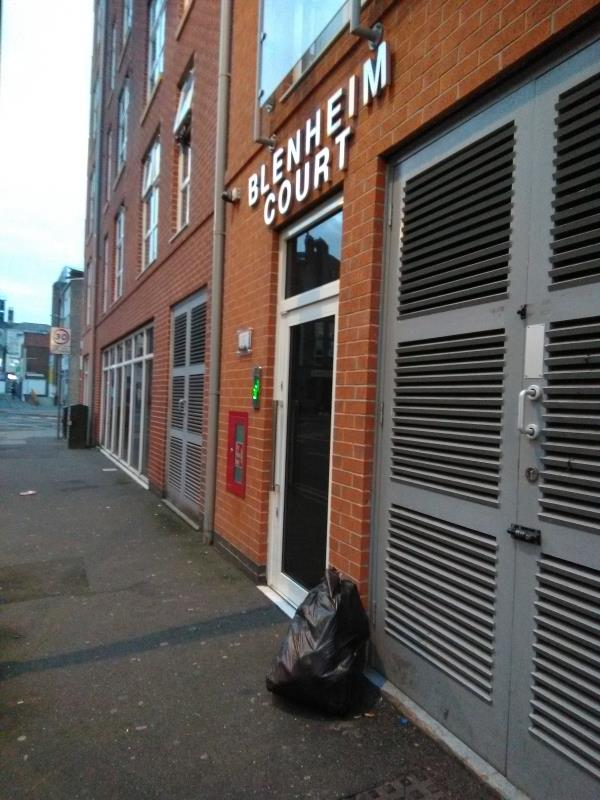 Fly-tipping outside Blenheim Court, Church Street-2 Church Street, Leicester, LE1 1LB