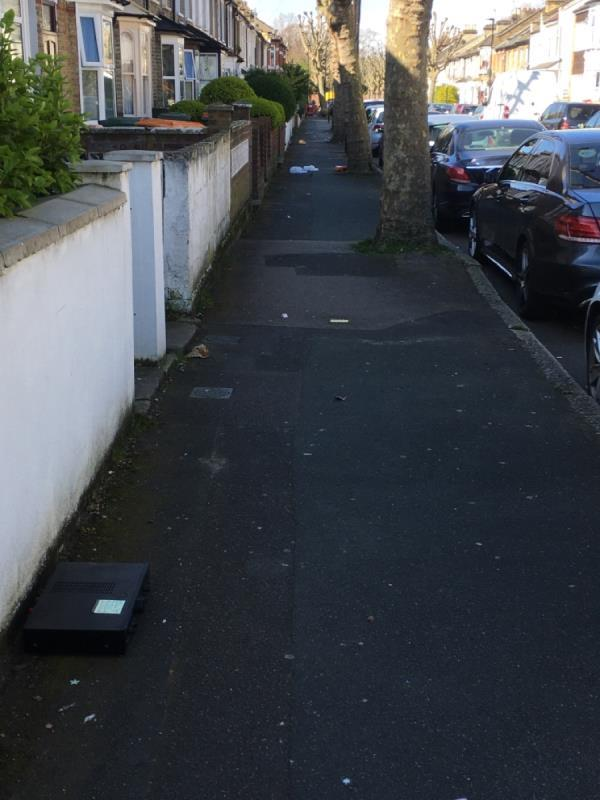 Fly tipping and street clean needed -74 Neville Road, London, E7 9QX