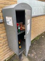 KFC rubbish and gin and tonic cans all over the street again.  image 1-21 Smiths Yard, Wandsworth, SW18 4HR