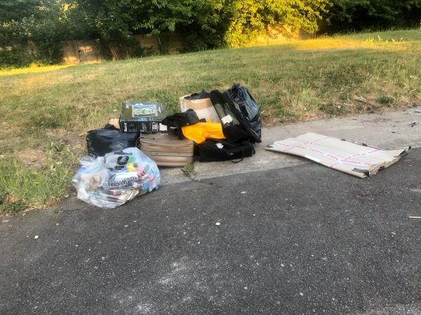 Suitcases and general rubbish in the usual spot.-31 Streimer Rd, London E15 2RL, UK