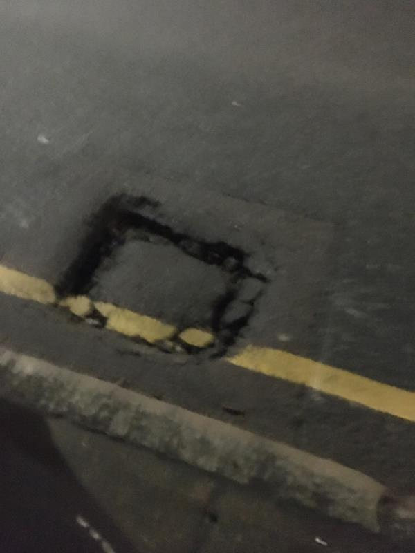 Massive pot hole due to buses, please can the council look into this as an urgent matter!  image 1-Stratford Unitarian Christian Church West Ham Lane, London, E15 4PH