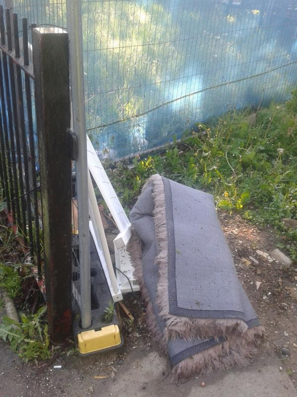 Please clear flytip from where recycling bin is at Haddington road end-Forster House Whitefoot Lane, Bromley, BR1 5SD