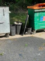 Several items including 2 rubbish bins have been dumped opposite No. 2 Kennedy Cox House. image 1-Kennedy Cox House Burke Street, Canning Town, E16 1EU
