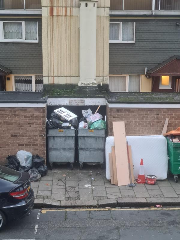 As there is no sign indicating that this is NOT  a dumping spot for unwanted items for the council to collect this is EXACTLY WHAT LOCALS DO. Just put a sign up.-28 Shirley Road, London, E15 4HX